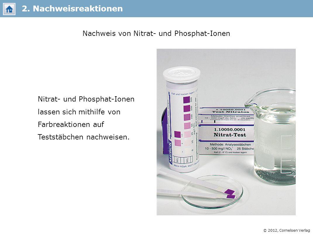 Nachweis von Nitrat- und Phosphat-Ionen