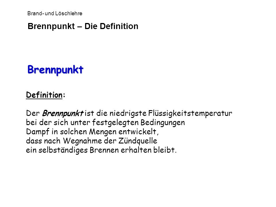 Brennpunkt – Die Definition