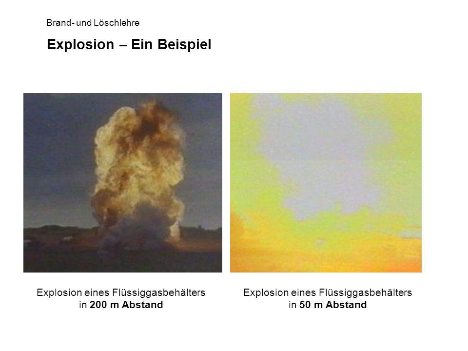 Explosion – Ein Beispiel