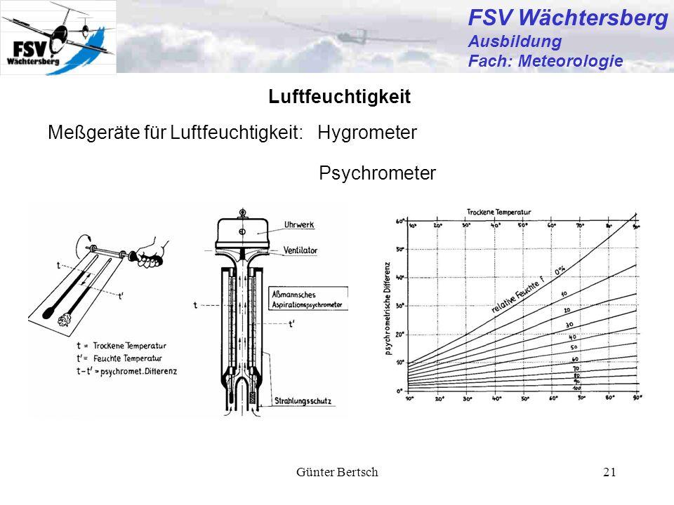FSV Wächtersberg Luftfeuchtigkeit