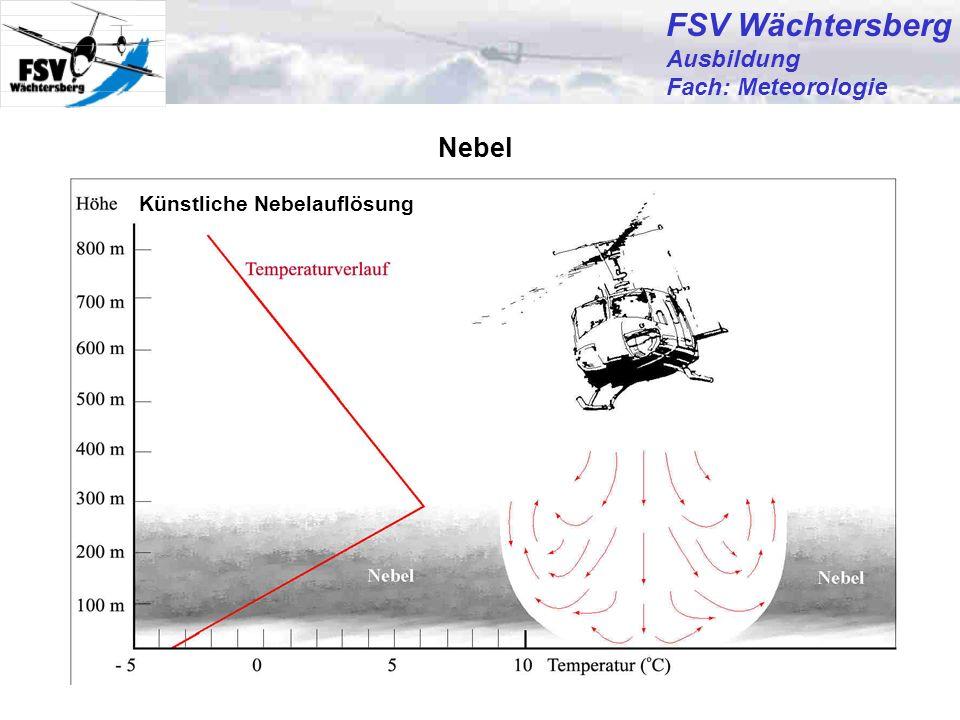 FSV Wächtersberg Nebel Ausbildung Fach: Meteorologie