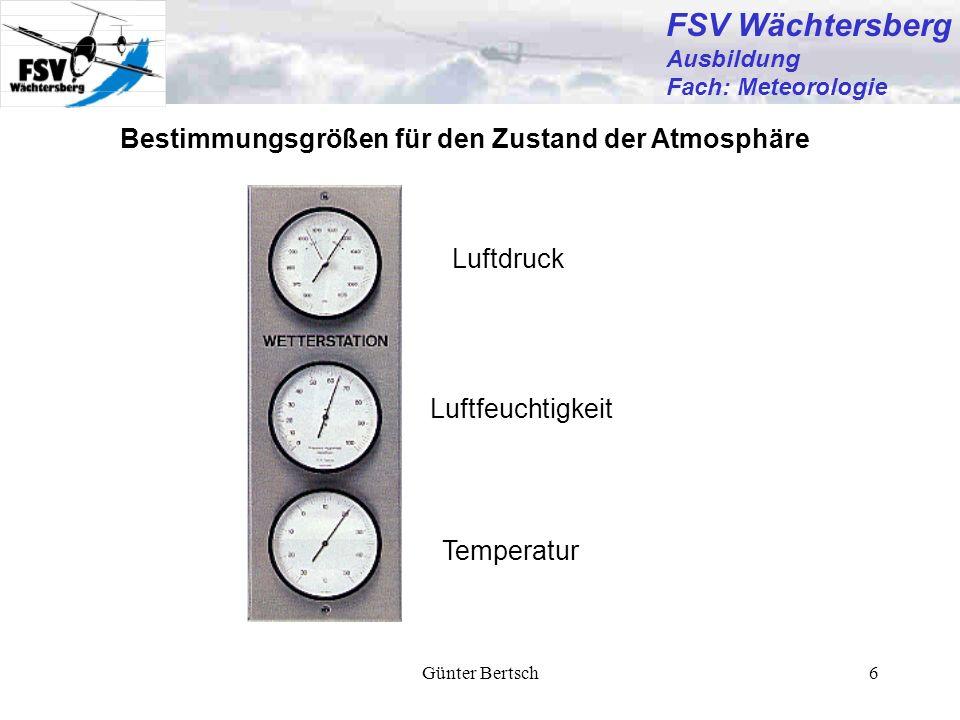 FSV Wächtersberg Bestimmungsgrößen für den Zustand der Atmosphäre
