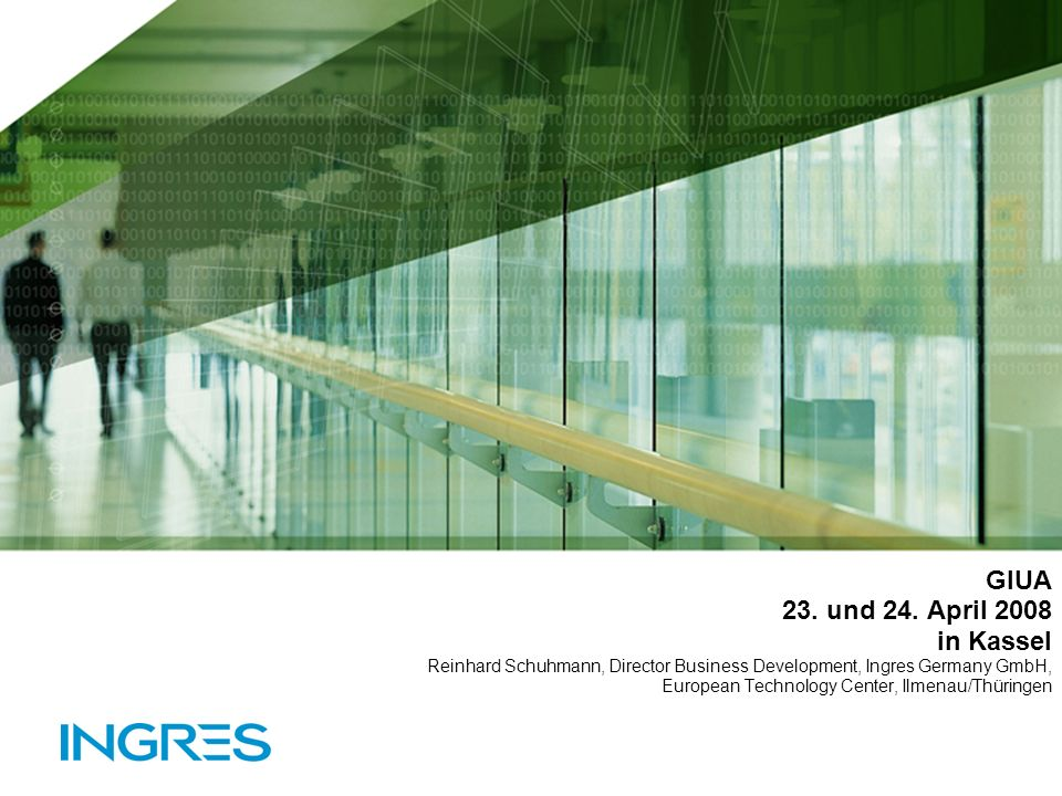 Ingres Corporation Presentation