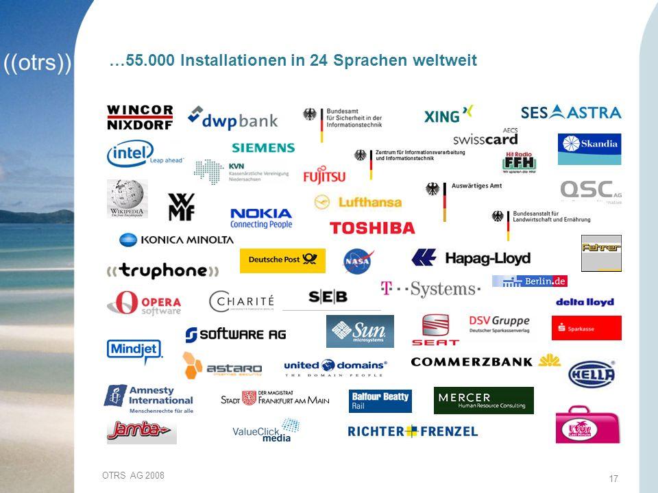 …55.000 Installationen in 24 Sprachen weltweit