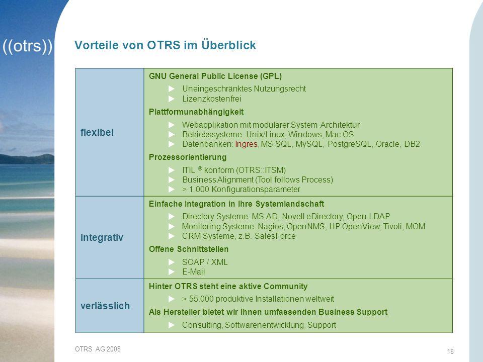 Vorteile von OTRS im Überblick