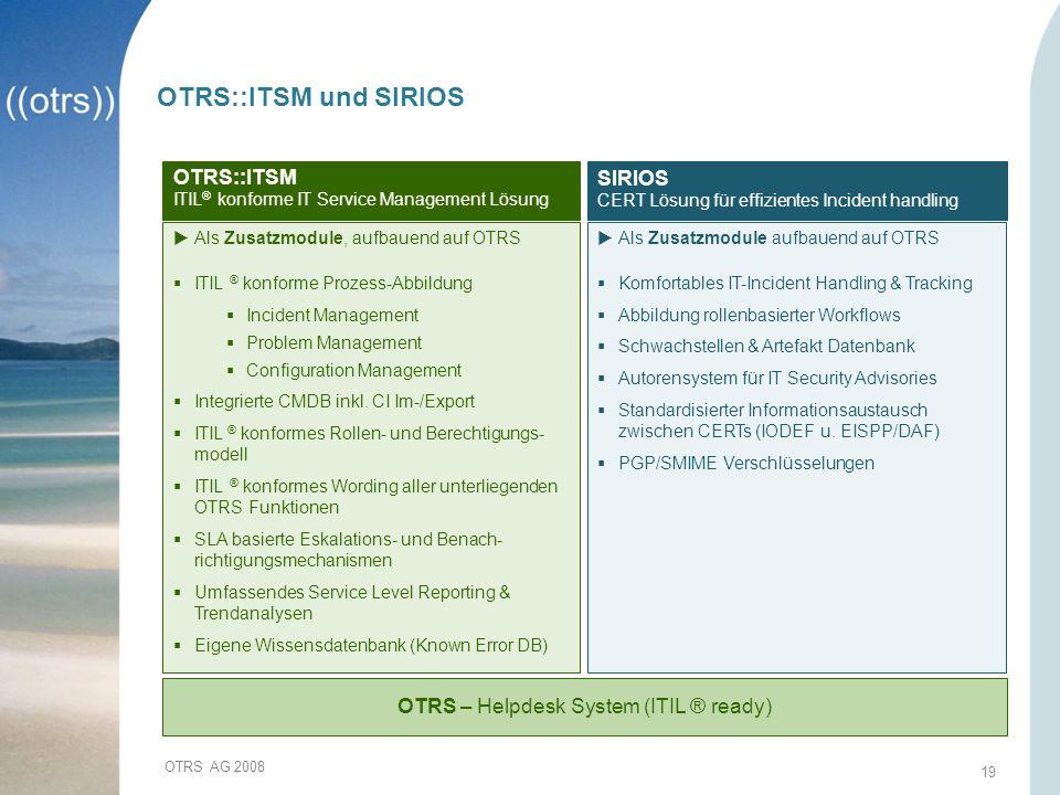 OTRS – Helpdesk System (ITIL ® ready)