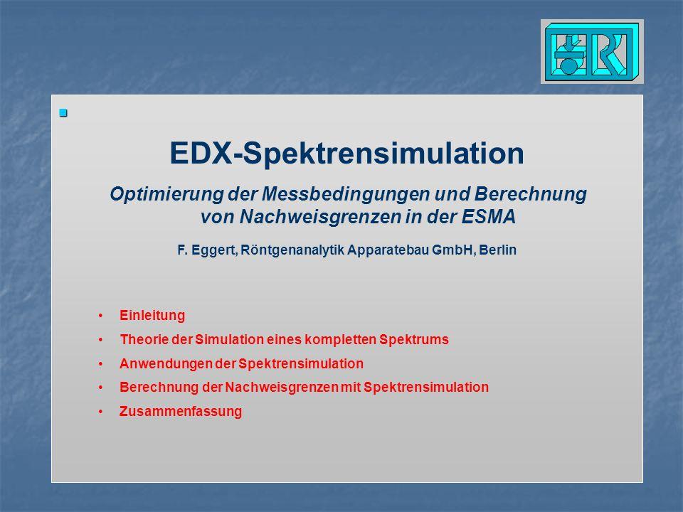 EDX-Spektrensimulation