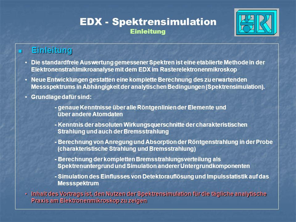 EDX - Spektrensimulation Einleitung