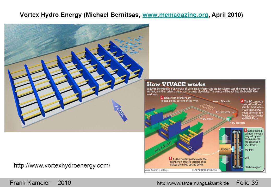 Vortex Hydro Energy (Michael Bernitsas, www. memagazine