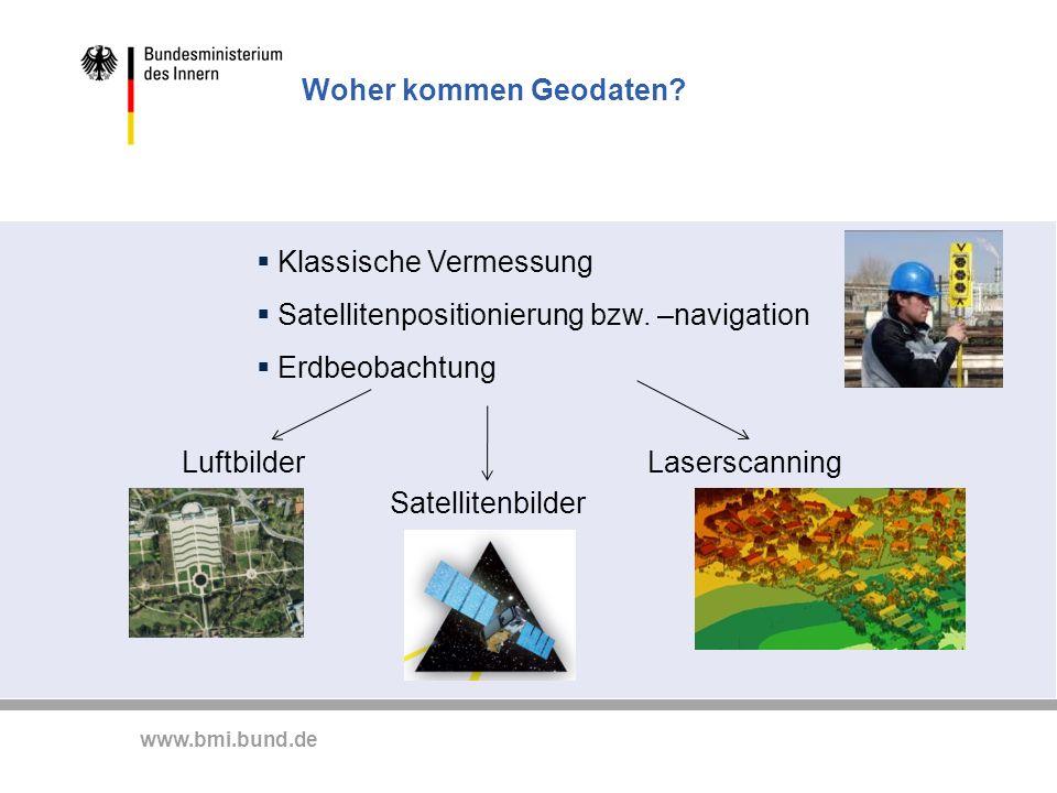 Klassische Vermessung Satellitenpositionierung bzw. –navigation