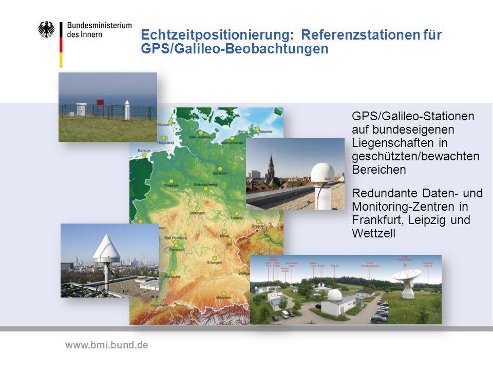 Echtzeitpositionierung: Referenzstationen für GPS/Galileo-Beobachtungen