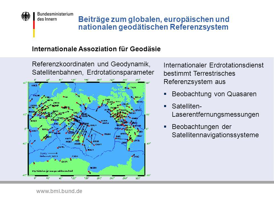 Beiträge zum globalen, europäischen und nationalen geodätischen Referenzsystem