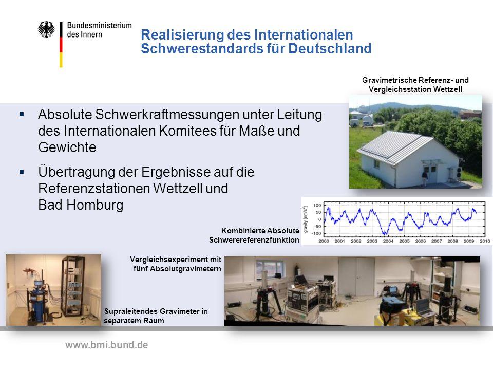 Realisierung des Internationalen Schwerestandards für Deutschland