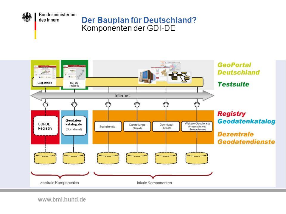 Der Bauplan für Deutschland Komponenten der GDI-DE