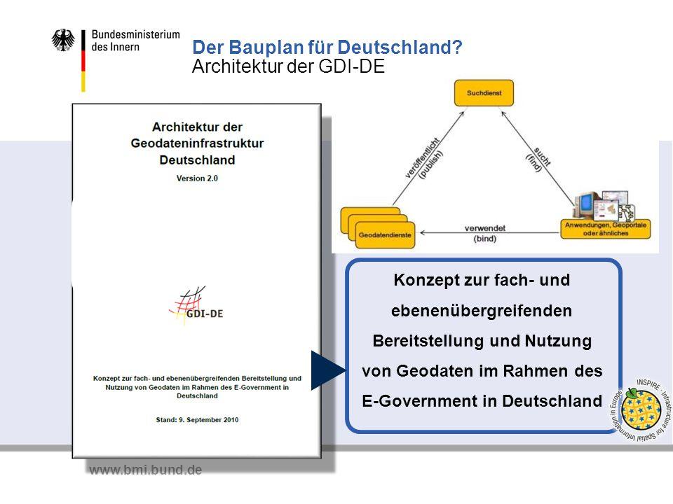 Der Bauplan für Deutschland Architektur der GDI-DE