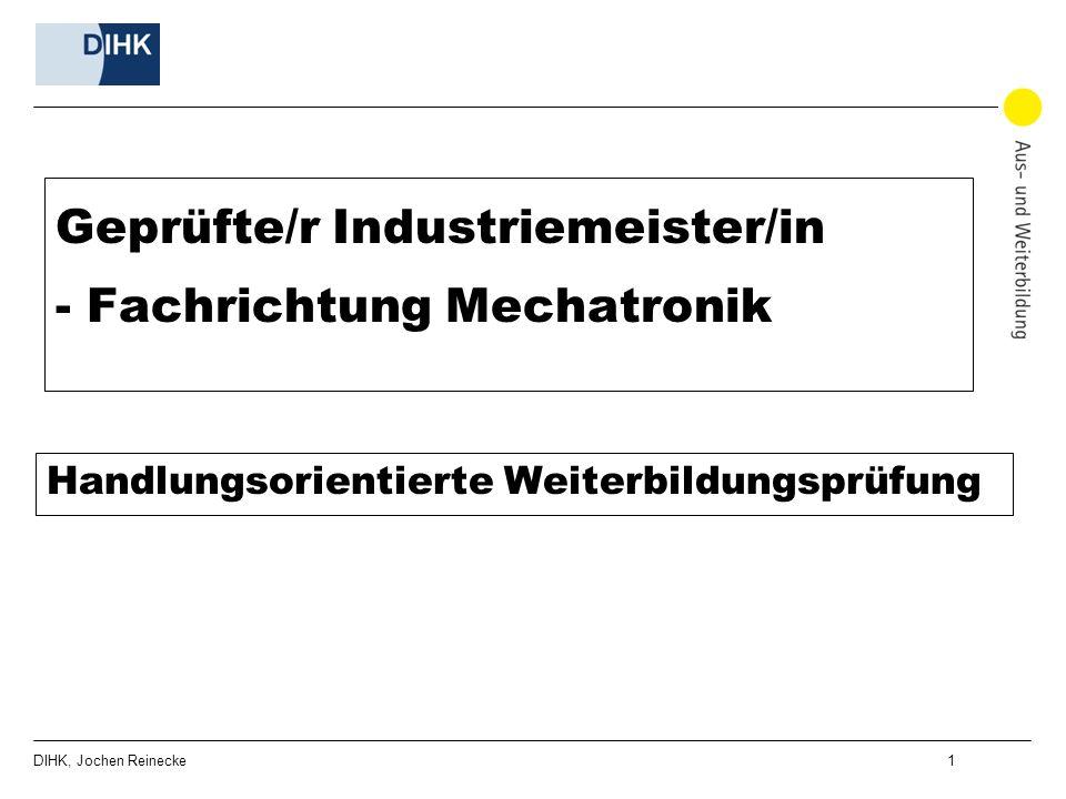 Geprüfte/r Industriemeister/in - Fachrichtung Mechatronik