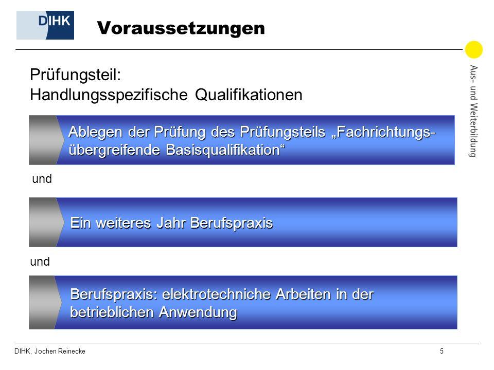 Voraussetzungen Prüfungsteil: Handlungsspezifische Qualifikationen