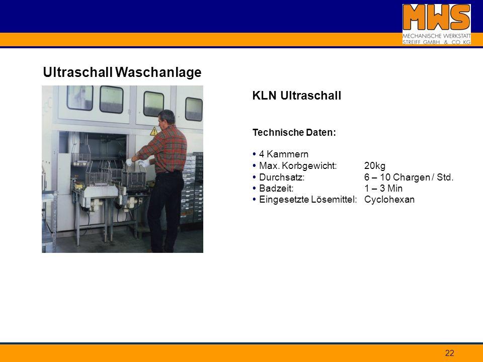 Ultraschall Waschanlage