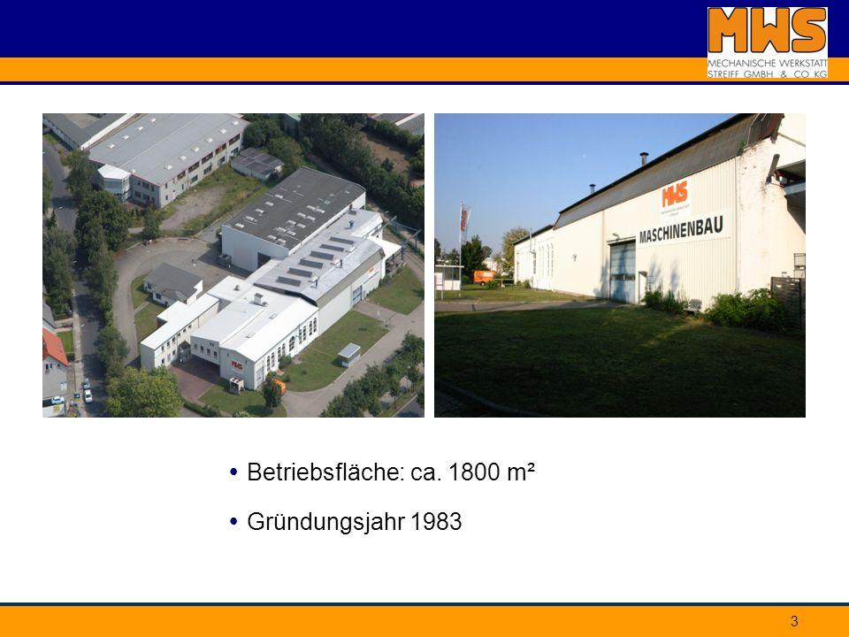  Betriebsfläche: ca. 1800 m²