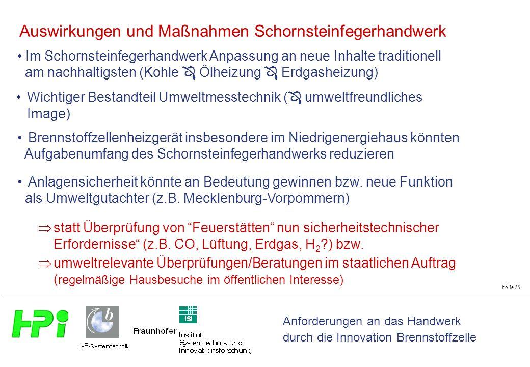 Auswirkungen und Maßnahmen Schornsteinfegerhandwerk