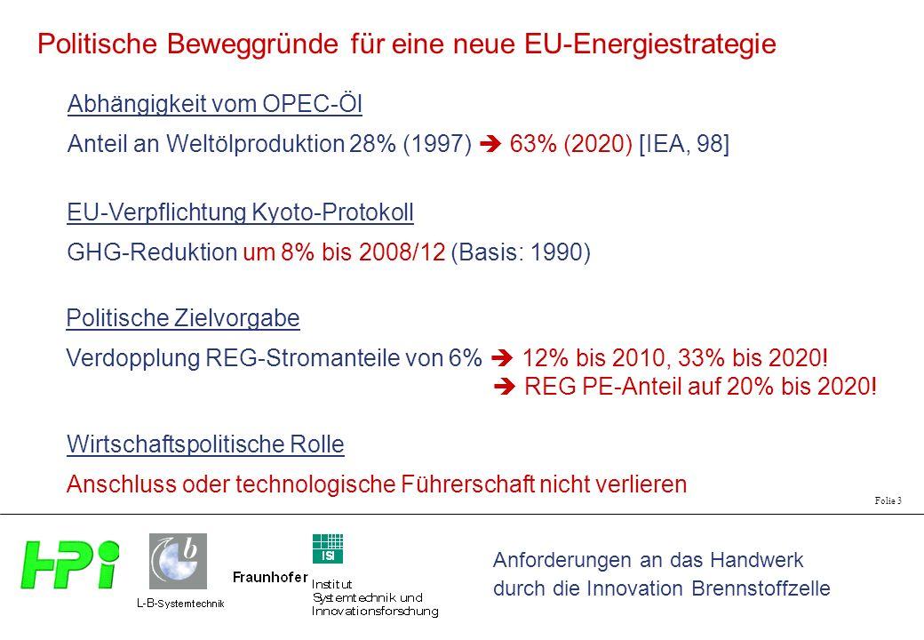 Politische Beweggründe für eine neue EU-Energiestrategie