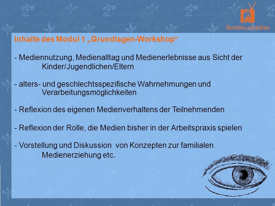 """Inhalte des Modul 1 """"Grundlagen-Workshop"""