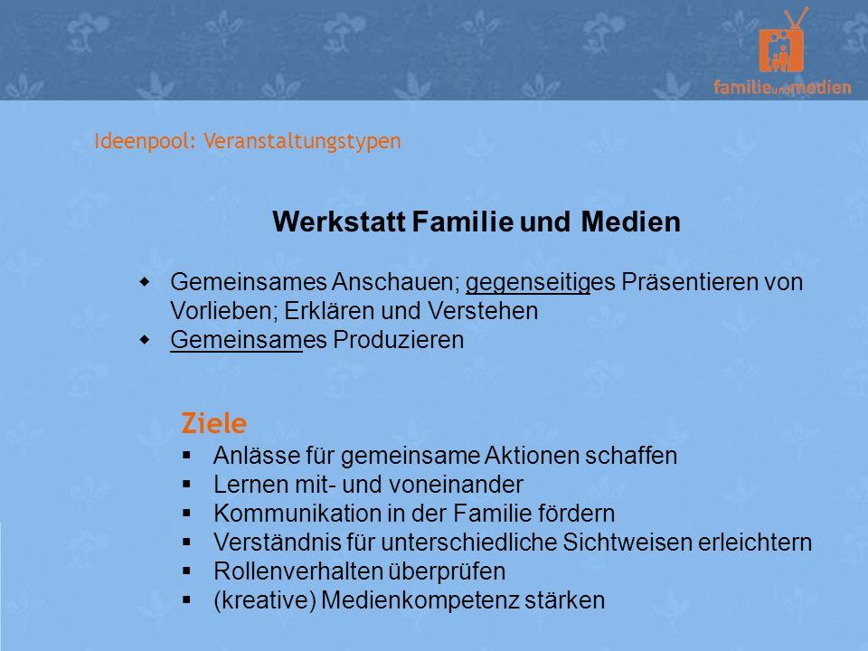 Werkstatt Familie und Medien