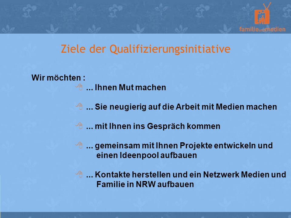 Ziele der Qualifizierungsinitiative