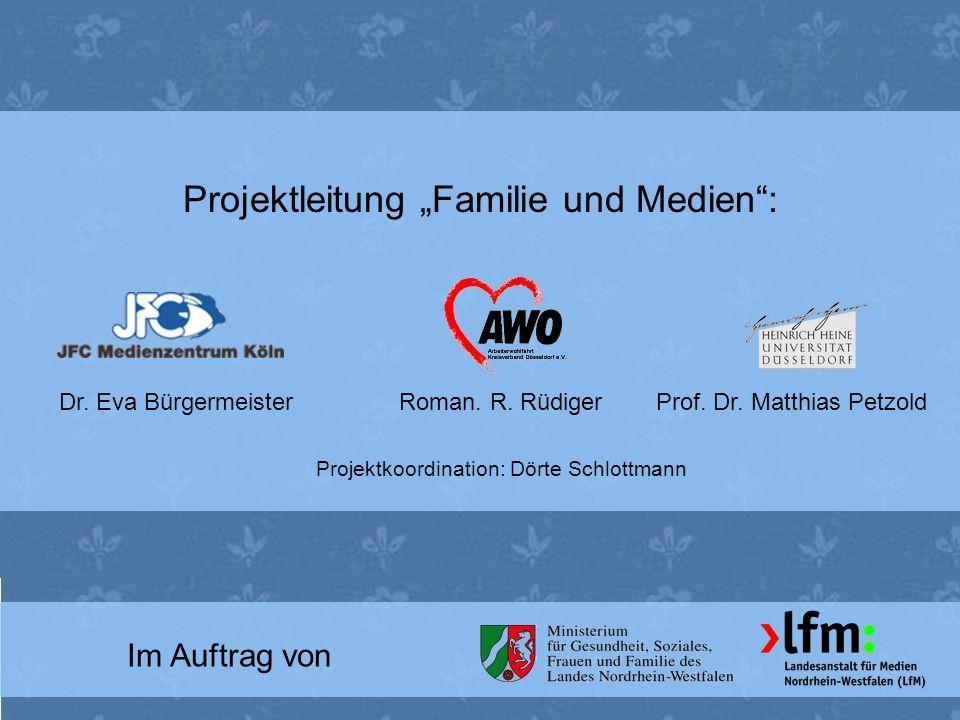 """Projektleitung """"Familie und Medien :"""
