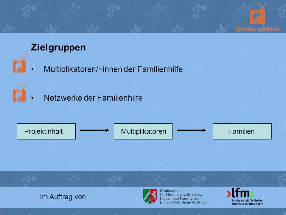 Zielgruppen Multiplikatoren/~innen der Familienhilfe