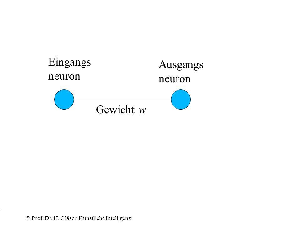 Eingangs neuron Ausgangs neuron Gewicht w