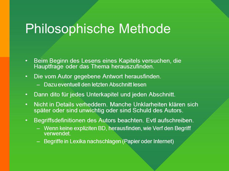 Philosophische Methode