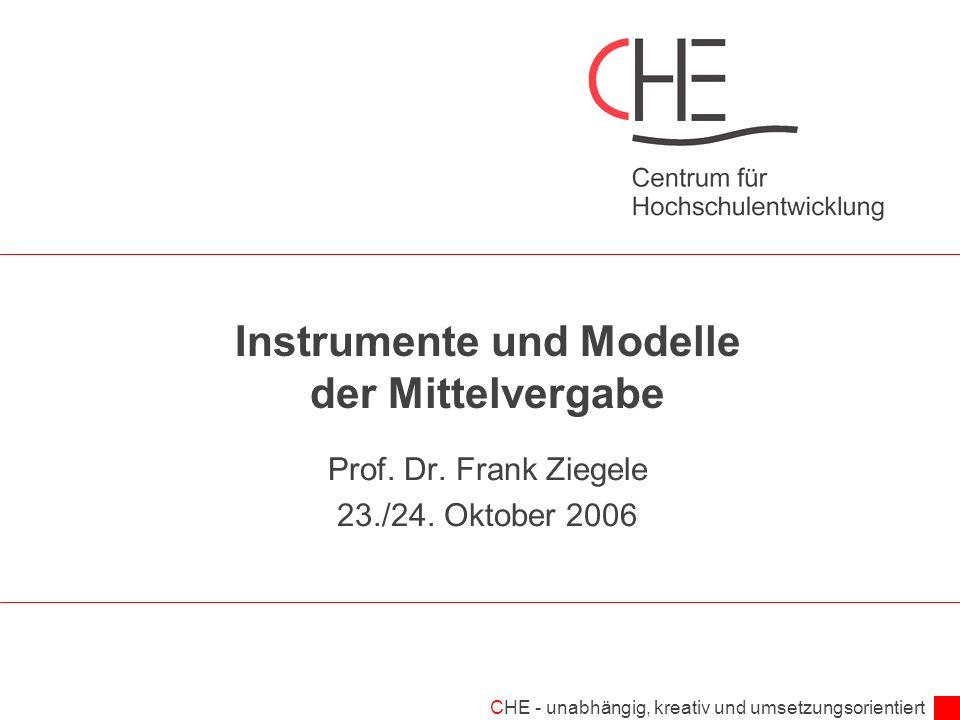 Instrumente und Modelle der Mittelvergabe