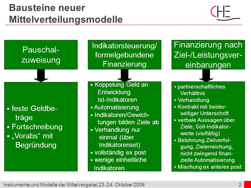 Bausteine neuer Mittelverteilungsmodelle