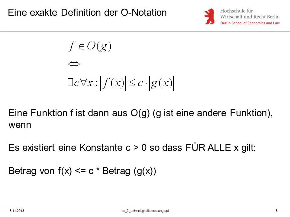 Eine exakte Definition der O-Notation