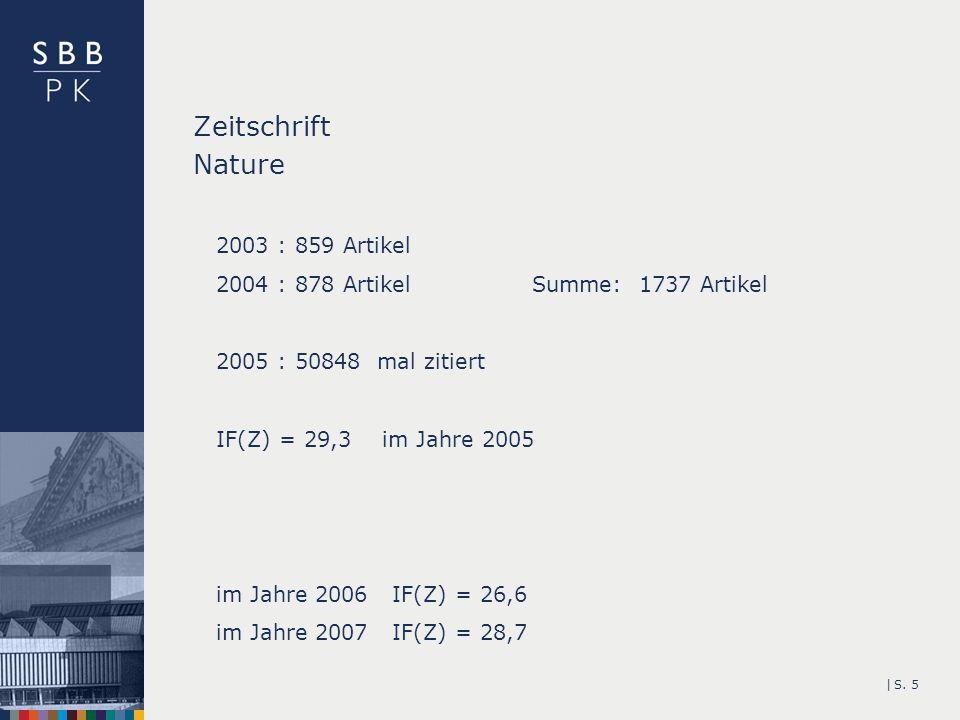 Zeitschrift Nature 2003 : 859 Artikel