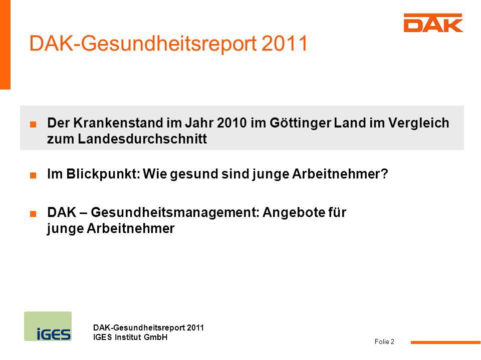 DAK-Gesundheitsreport 2011