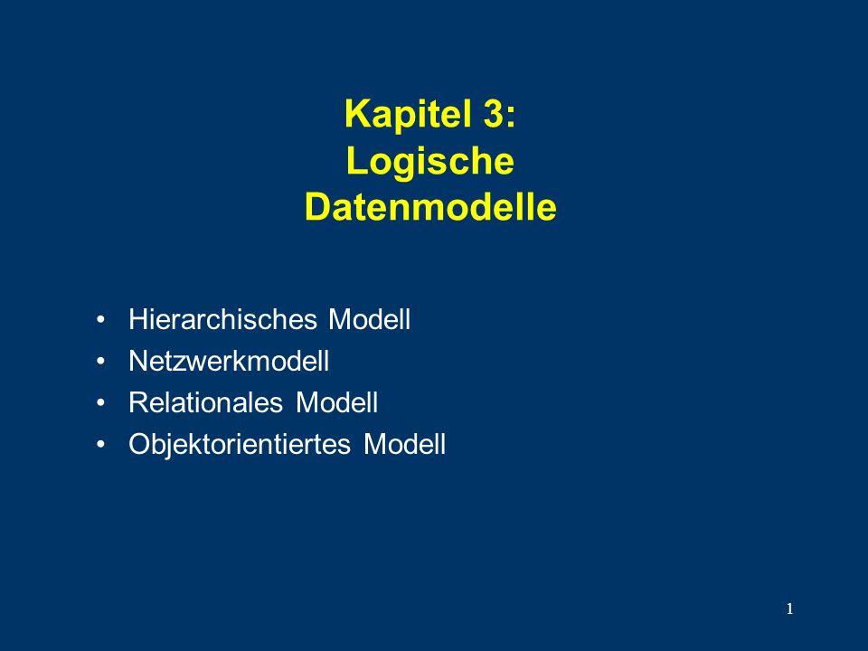 Kapitel 3: Logische Datenmodelle