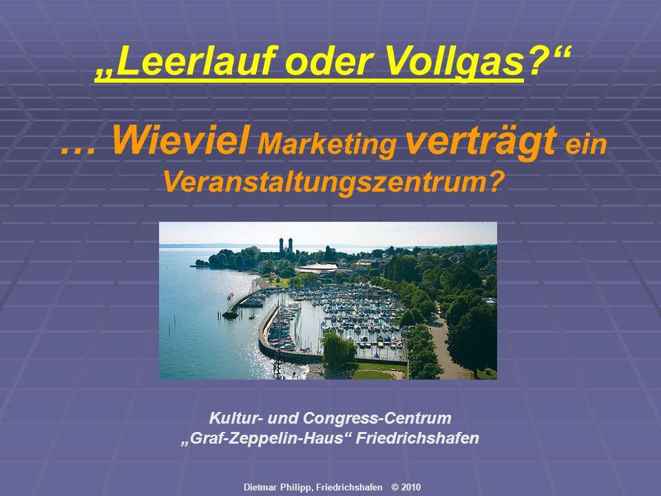 """""""Leerlauf oder Vollgas … Wieviel Marketing verträgt ein"""