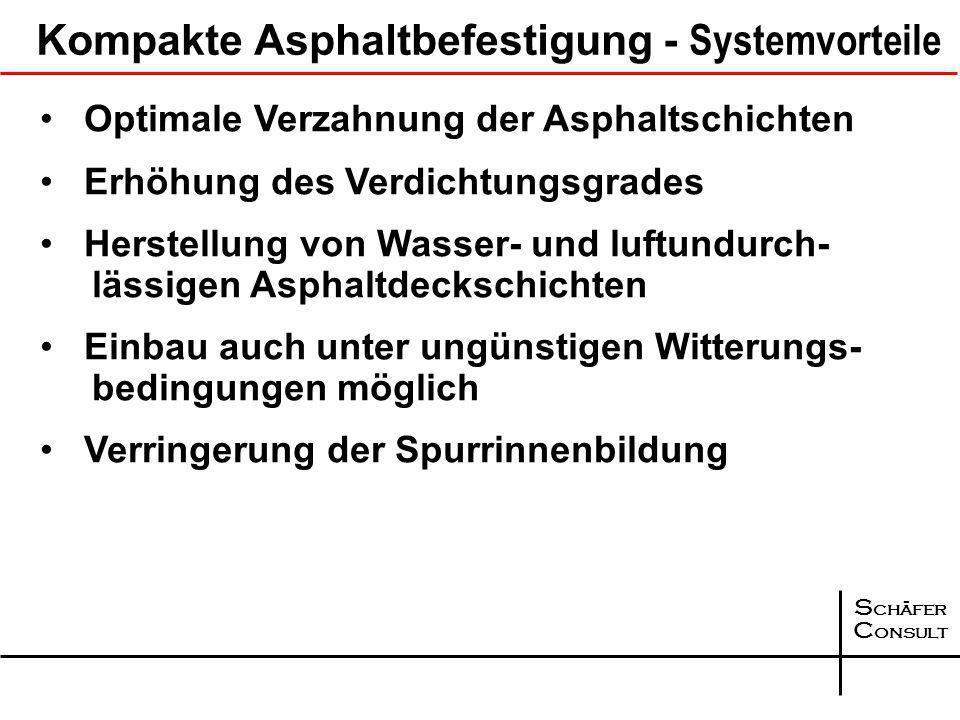 Kompakte Asphaltbefestigung - Systemvorteile