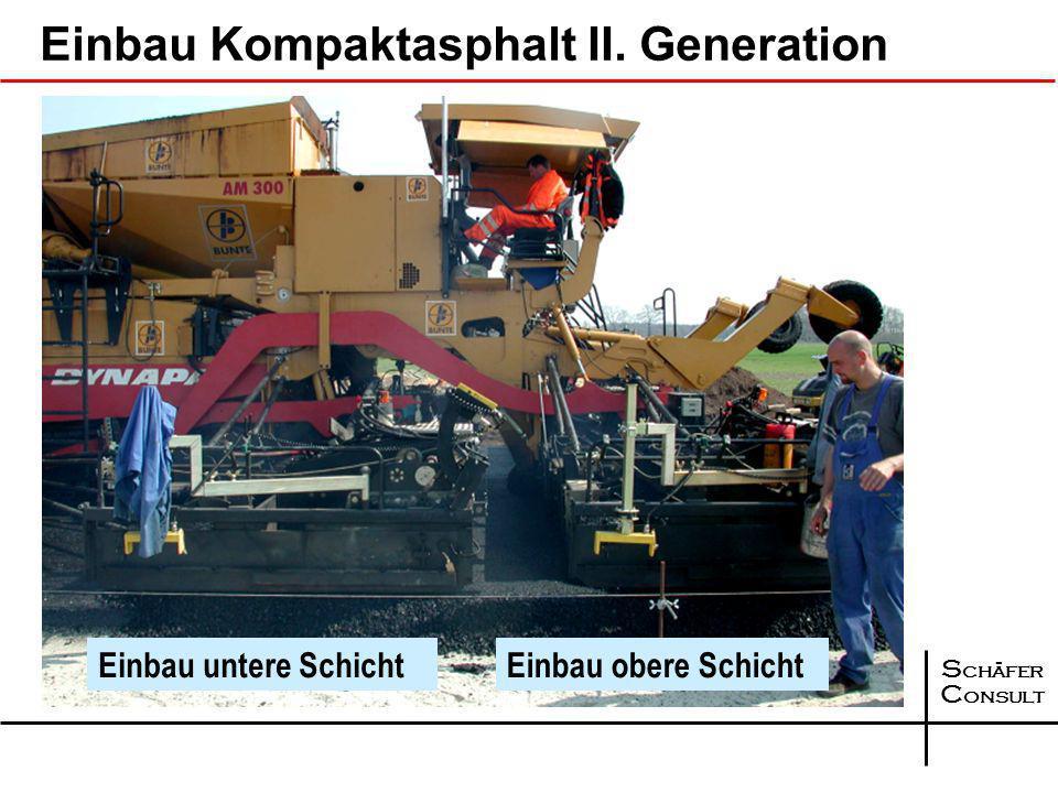 Einbau Kompaktasphalt II. Generation