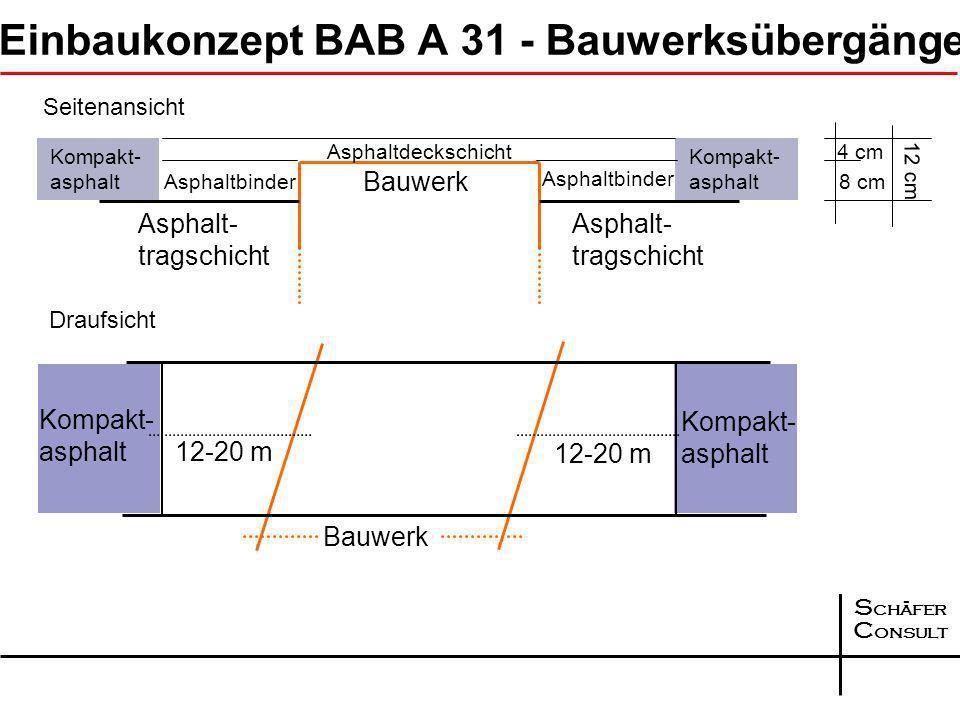 Einbaukonzept BAB A 31 - Bauwerksübergänge