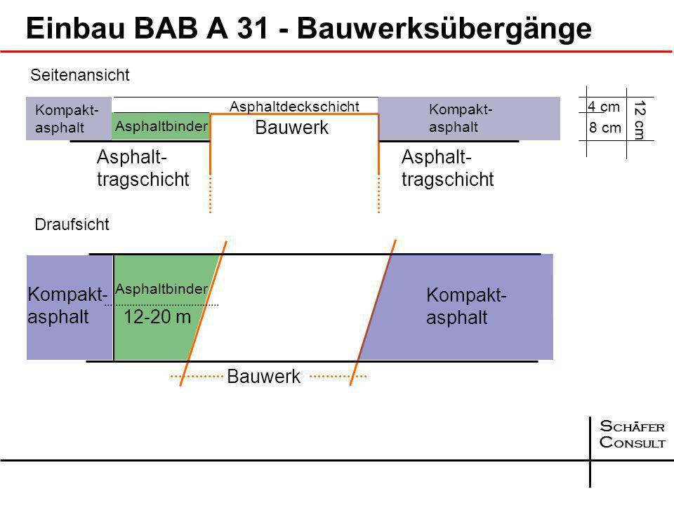Einbau BAB A 31 - Bauwerksübergänge