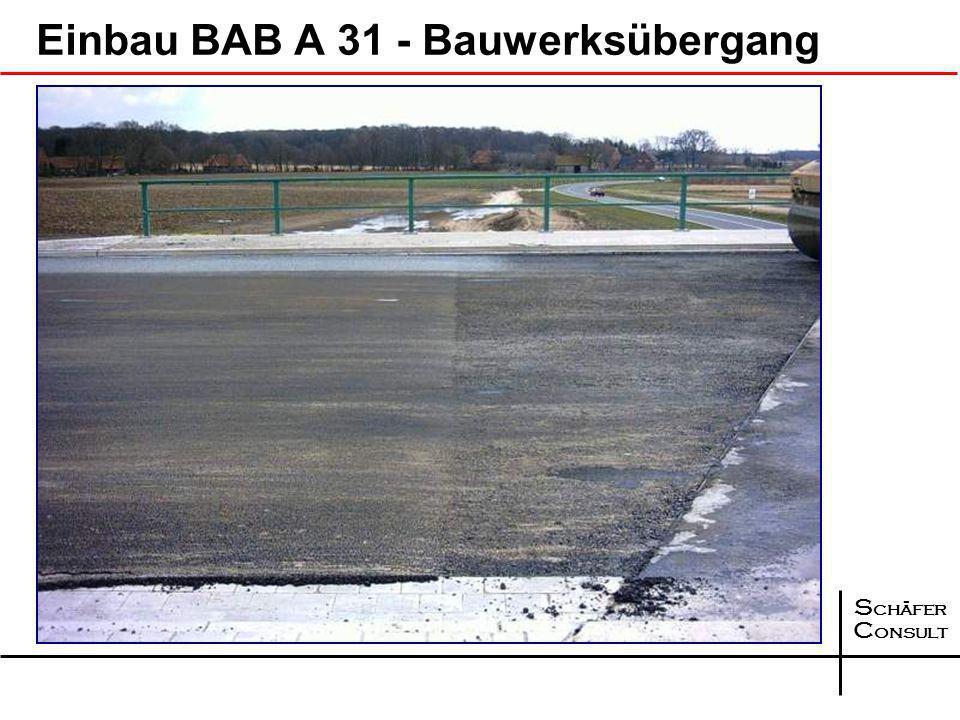 Einbau BAB A 31 - Bauwerksübergang