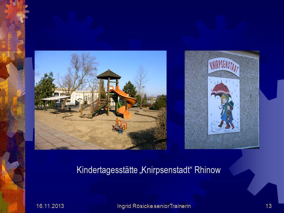 """Kindertagesstätte """"Knirpsenstadt Rhinow"""
