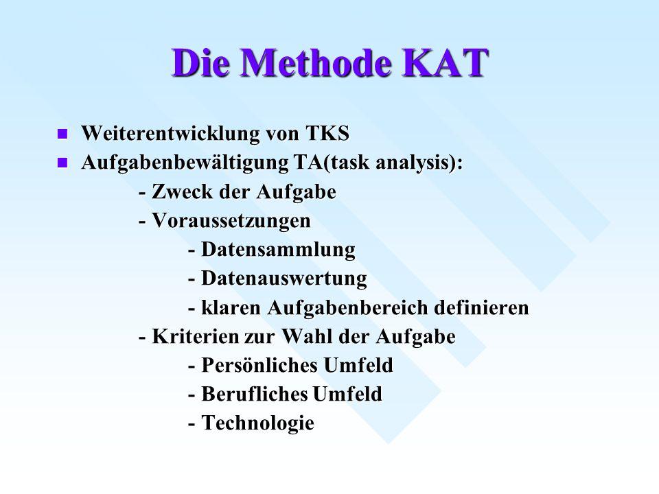Die Methode KAT Weiterentwicklung von TKS