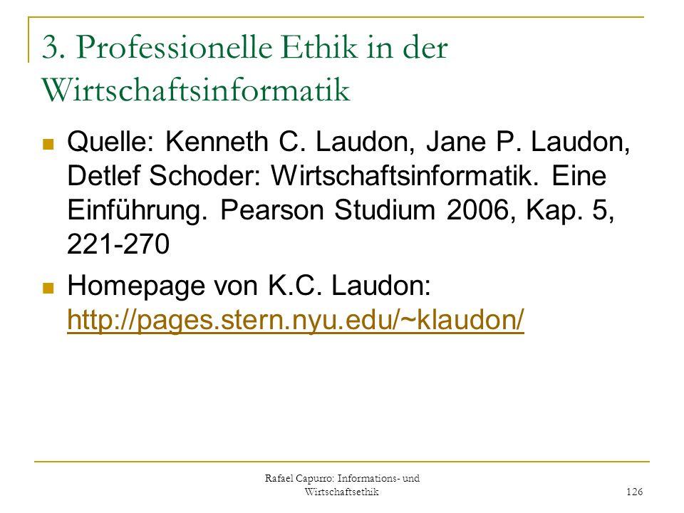3. Professionelle Ethik in der Wirtschaftsinformatik