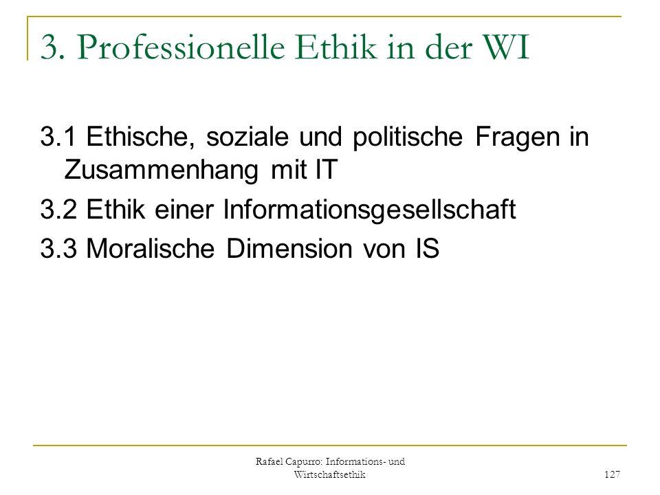 3. Professionelle Ethik in der WI