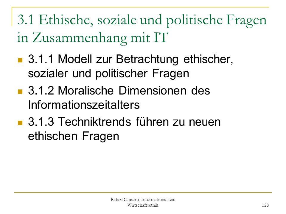 3.1 Ethische, soziale und politische Fragen in Zusammenhang mit IT