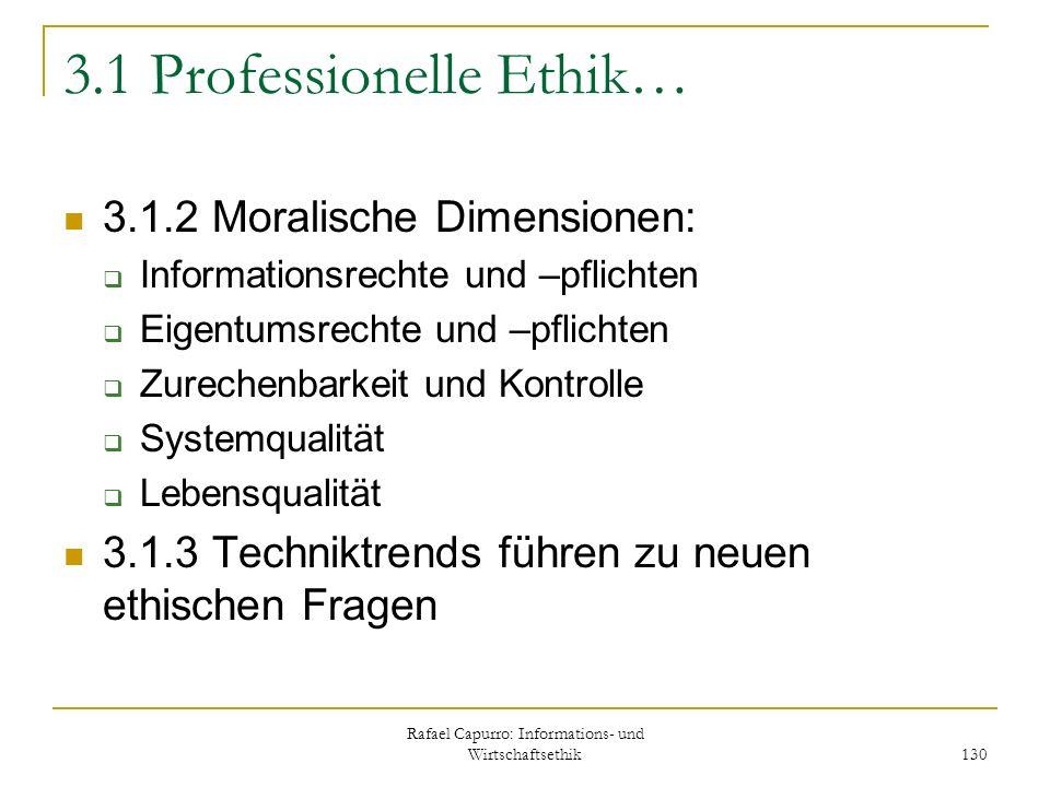 3.1 Professionelle Ethik…
